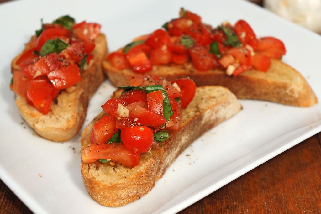 Tomato and Basil Bruschetta Recipe - Essential Baking Company