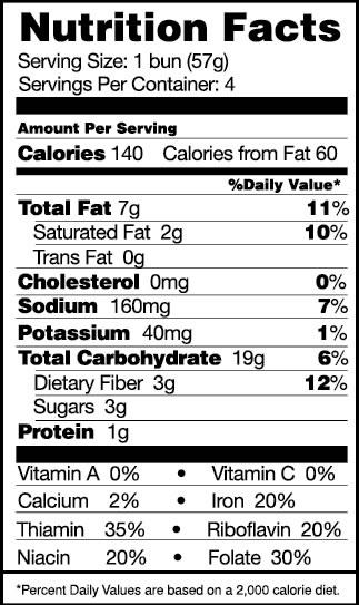 Hot Dog Bun Nutrition Facts