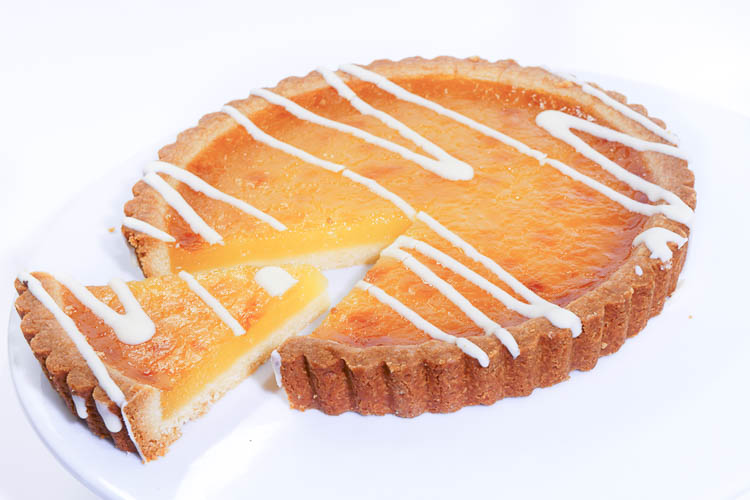 Lemon Hazelnut Tart Recipe — Dishmaps