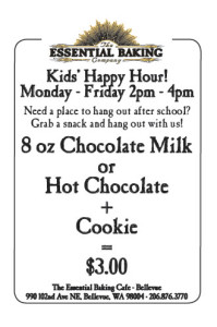 Cafe Bellevue: Kid's Happy Hour
