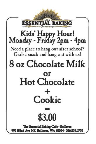 Cafe Bellevue: Kid's Happy Hour